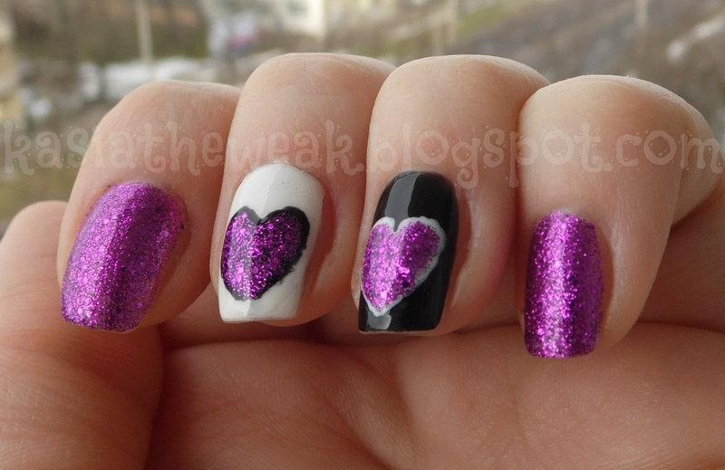 Valentine's nails nail art by Kasia