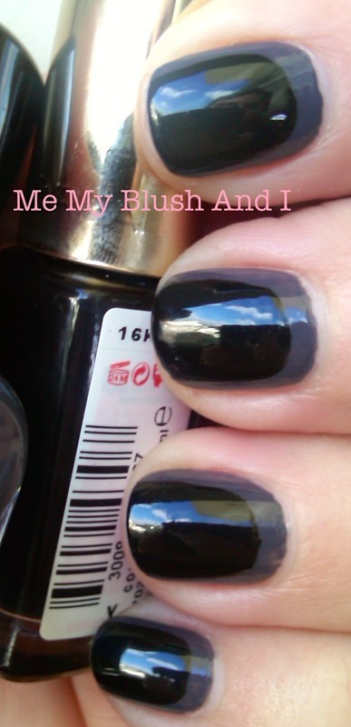 Black on Dark Grey nail art by Athina