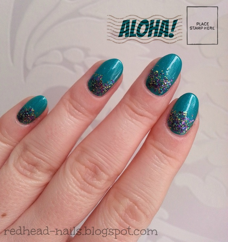 Hawai Invitation nail art by Redhead Nails