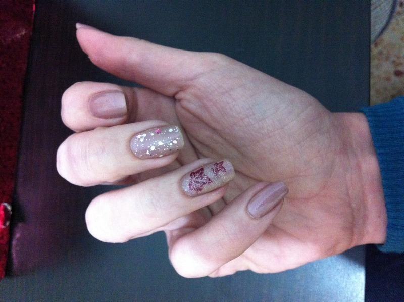 Autumn Leaves nail art by Liron