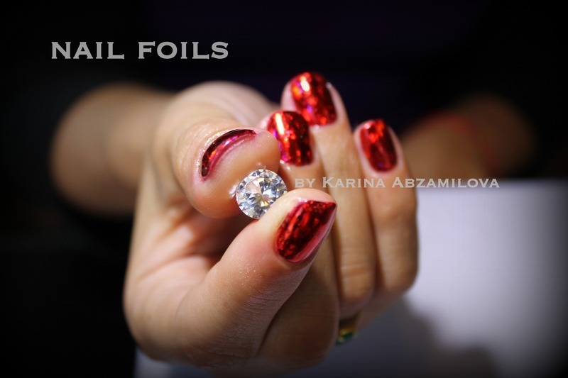 Love nail art by Karina Abzamilova