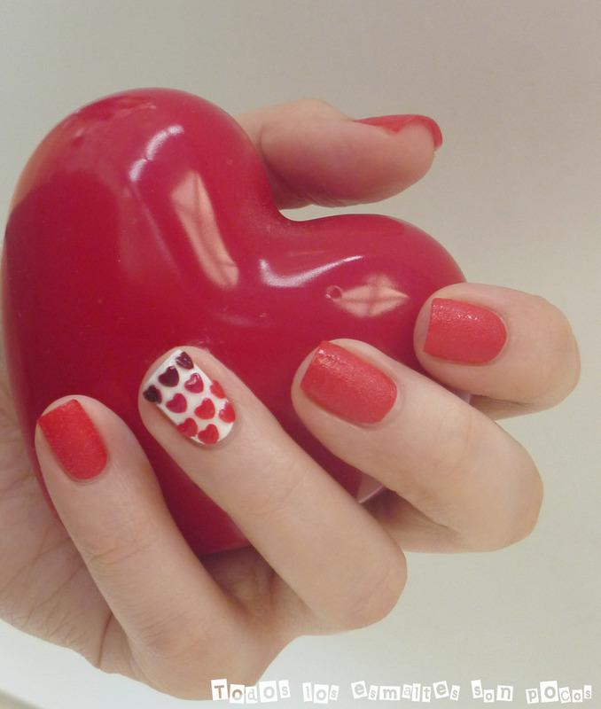 San Valentín nail art by Maria