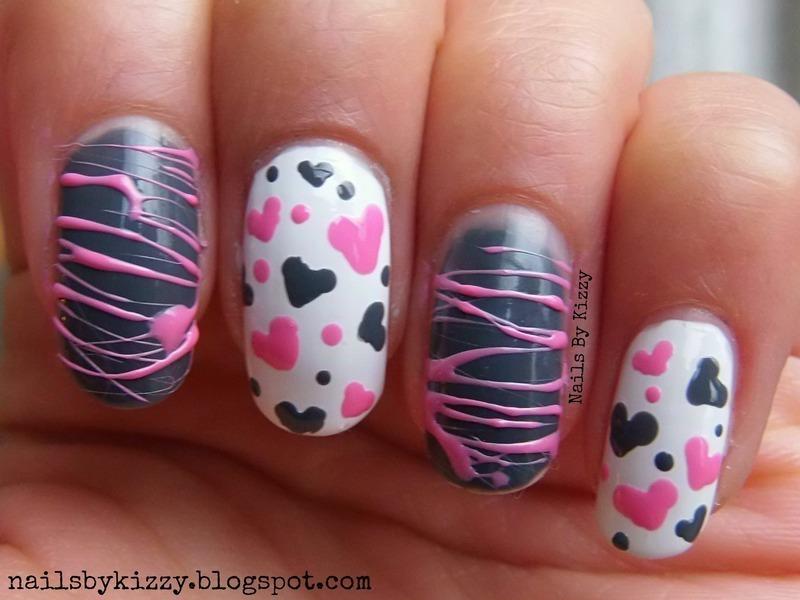 Valentine's Day Nail Art! nail art by Kizzy