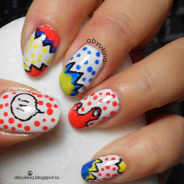 Pop Art nail art by Aby