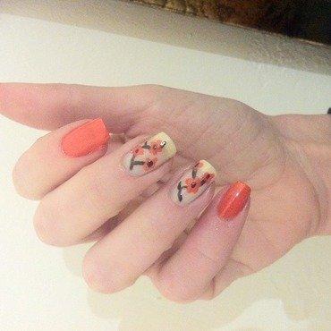 Cherry Blossom nail art by Liron