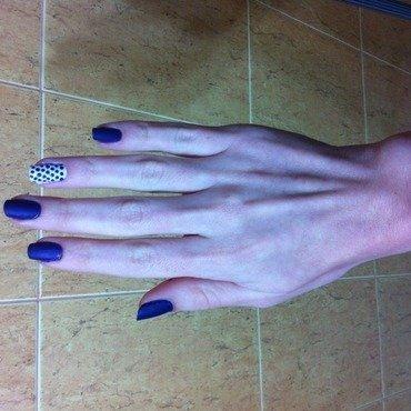 Polka Dots nail art by Liron