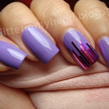 Lilac & stripes nail art by The Wonderful Pinkness