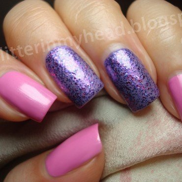 Pink & violet nail art by The Wonderful Pinkness