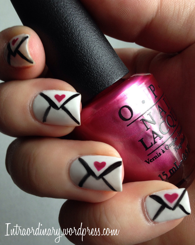Love Letters nail art by Katie