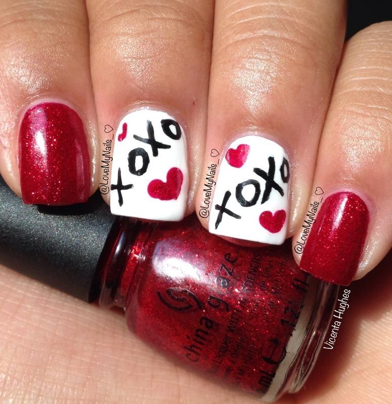 @LoveMyNails_ XOXO Nails nail art by Vicenta