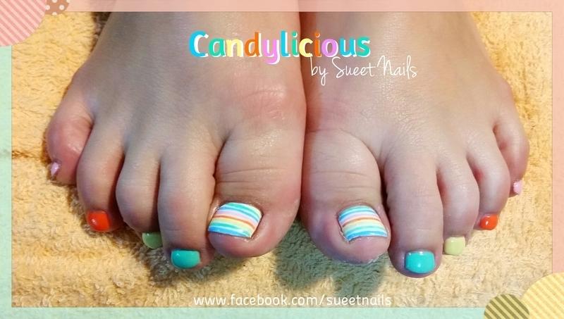 Candylicious nail art by Sueet Nails