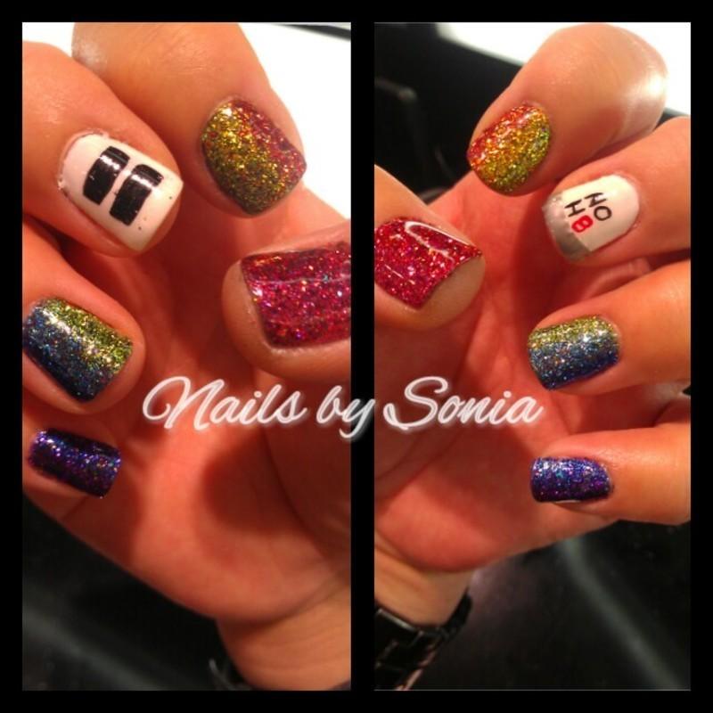 NoH8 nail art by Sonia Garcia