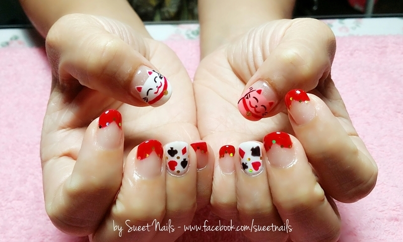 Good Fortune nail art by Sueet Nails