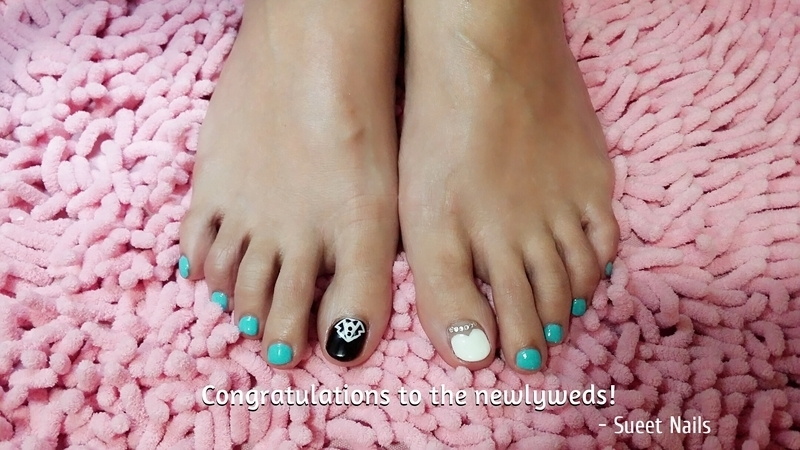 Newly Weds nail art by Sueet Nails