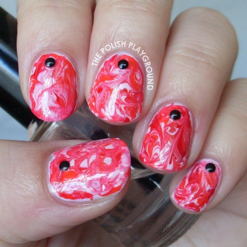 My Bloody Valentine nail art by Lisa N