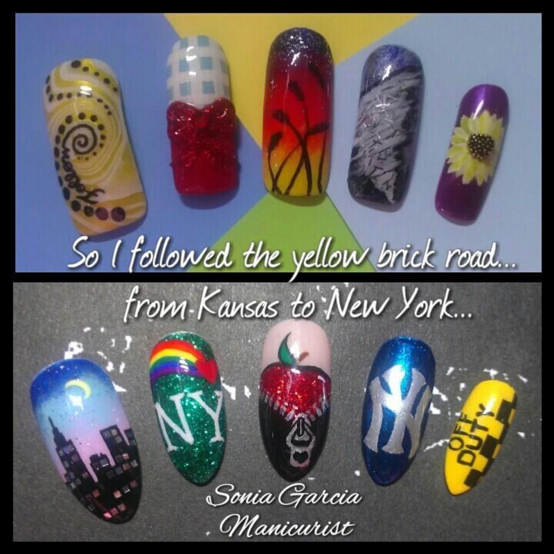 Following Dreams... nail art by Sonia Garcia