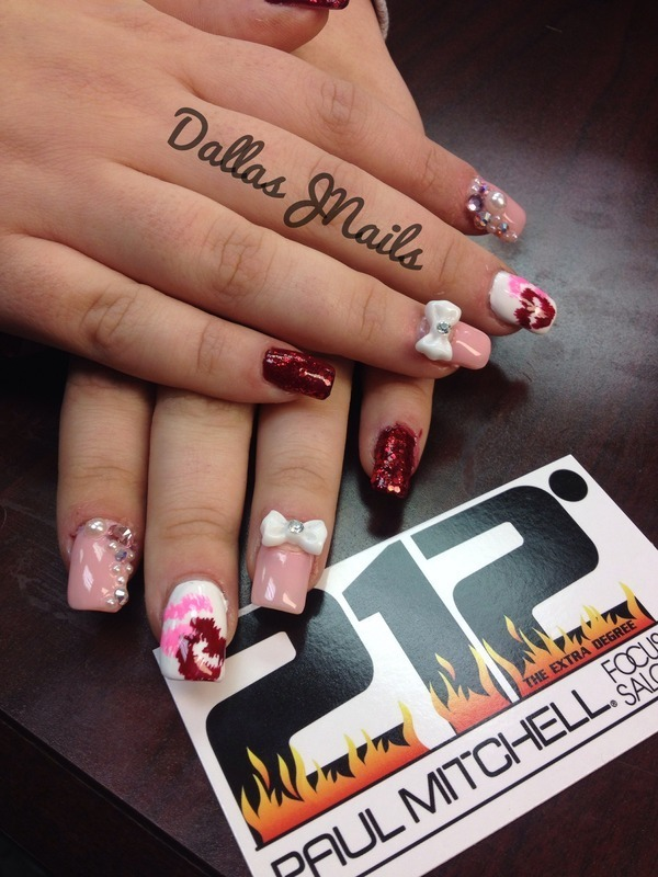 Xoxo nail art by Dallas
