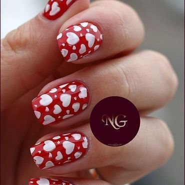 Heart Attack nail art by NailGlaze