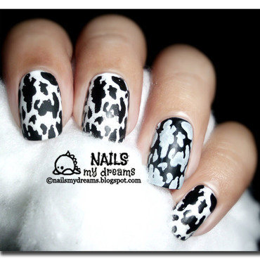 Moo Nails nail art by Kat of NailsMyDreams