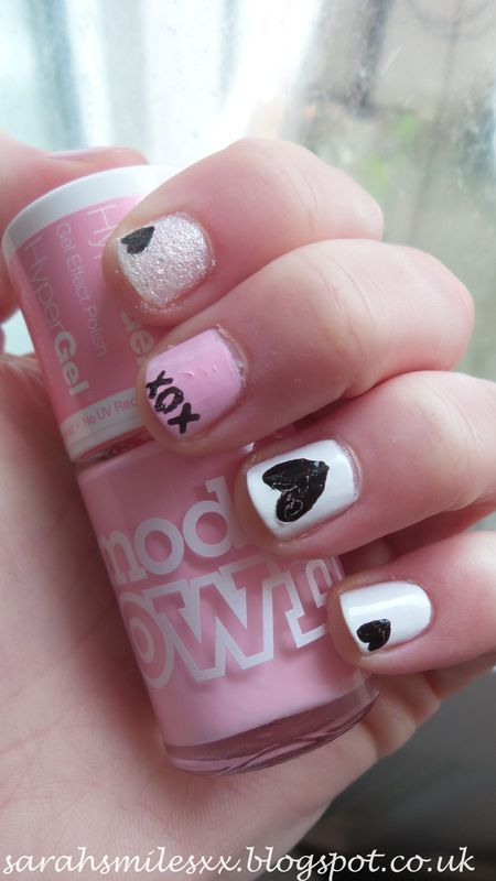Valentines Day nail art by Sarah Clarke
