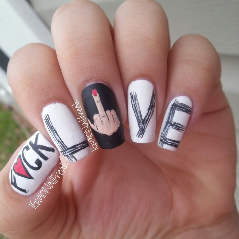 Different Kind of Valentine nail art by Selena  Lopez
