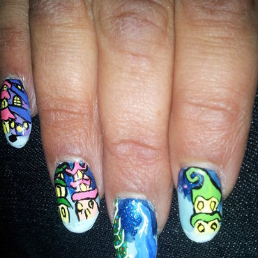whoville nail art by Laura