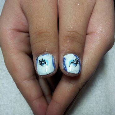 rarity nails nail art by Laura