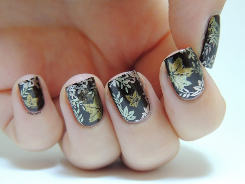 Autumn nails nail art by Marine Loves Polish