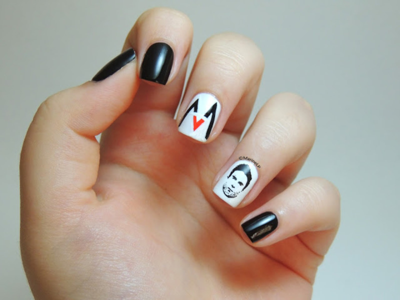 Maroon 5 feat adam levine manicure nail art by marine loves maroon 5 feat adam levine manicure nail art by marine loves polish prinsesfo Images