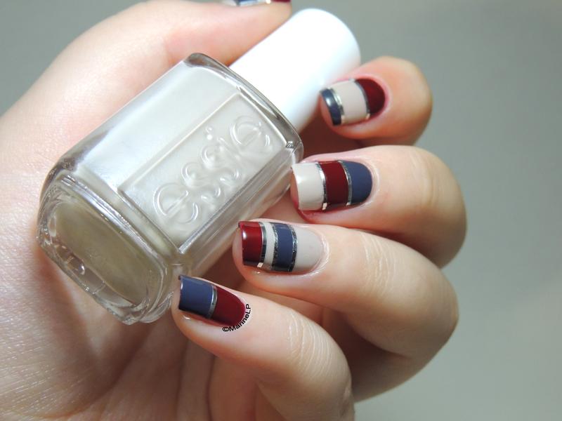 Striped  nails nail art by Marine Loves Polish