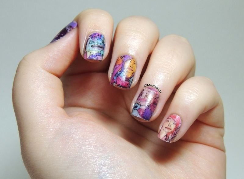 Maroon 5 Overexposed manicure nail art by Marine Loves Polish ...