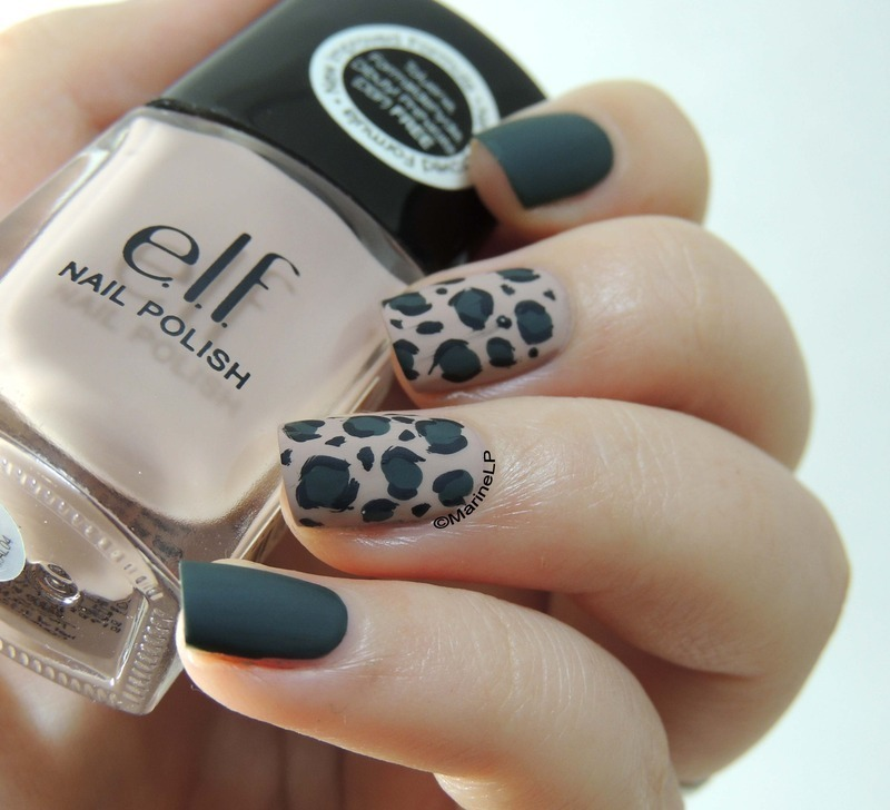 Leopard nails nail art by Marine Loves Polish