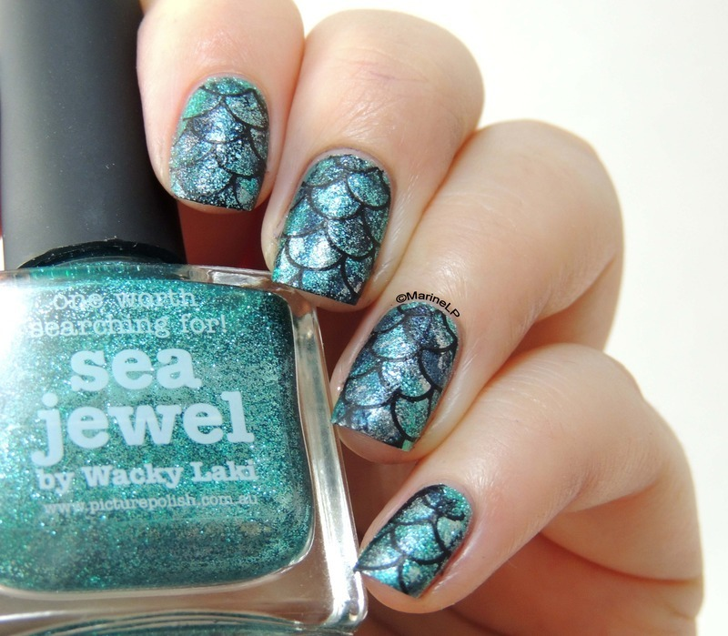 Mermaid nails nail art by marine loves polish nailpolis museum mermaid nails nail art by marine loves polish prinsesfo Choice Image
