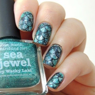 Mermaid nails sea jewel picture polish  1  thumb370f