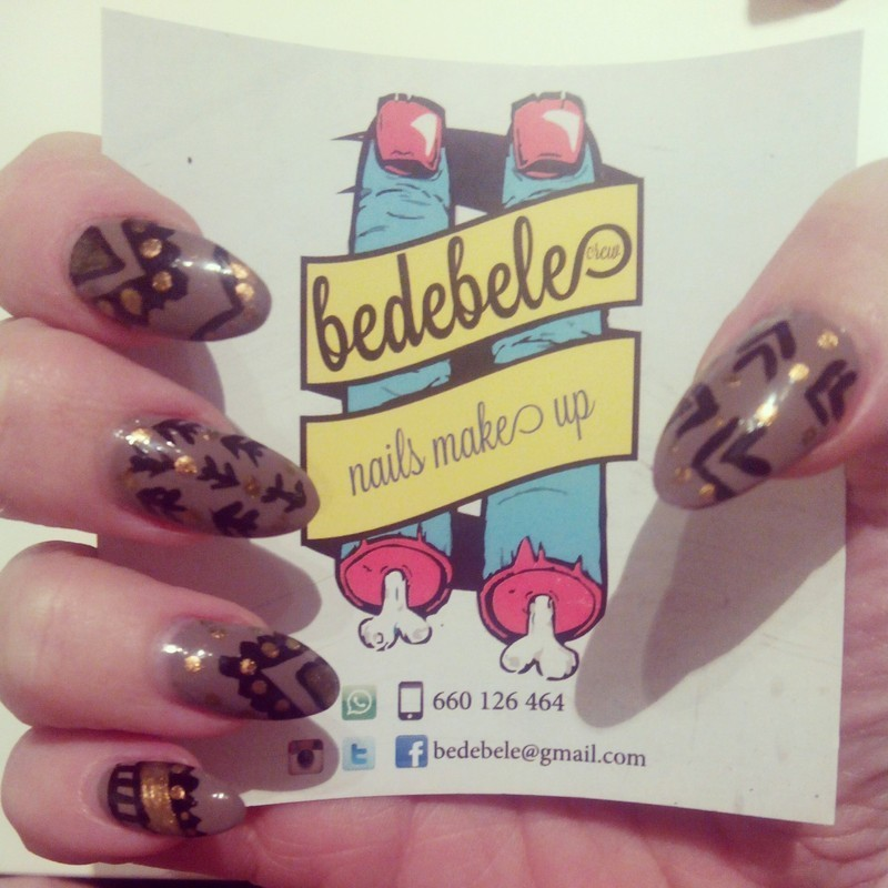 Etnic Nailsmakeup nail art by Be de Bele Crew