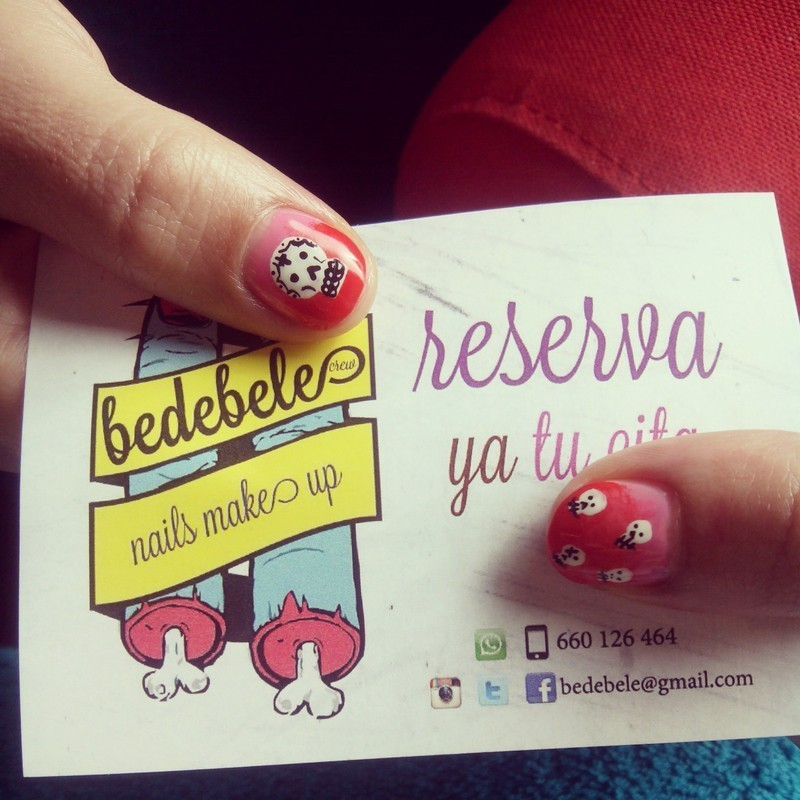 Skulls Nailsmakeup nail art by Be de Bele Crew