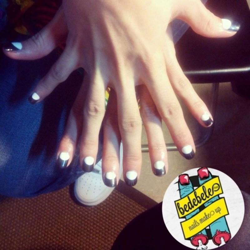 Black&White Nailsmakeup nail art by Be de Bele Crew