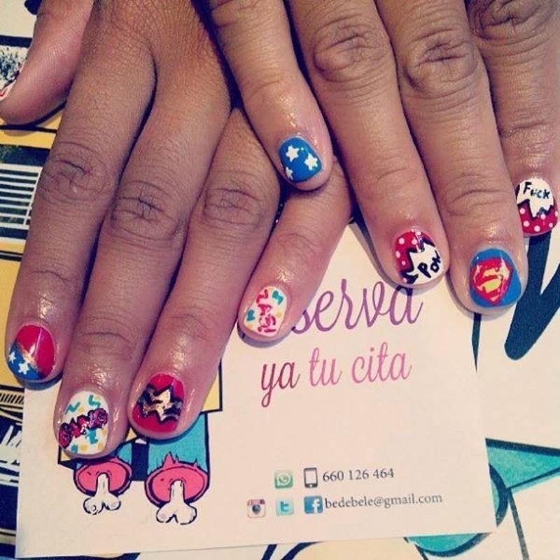 SuperHeroes Nailsmakeup nail art by Be de Bele Crew