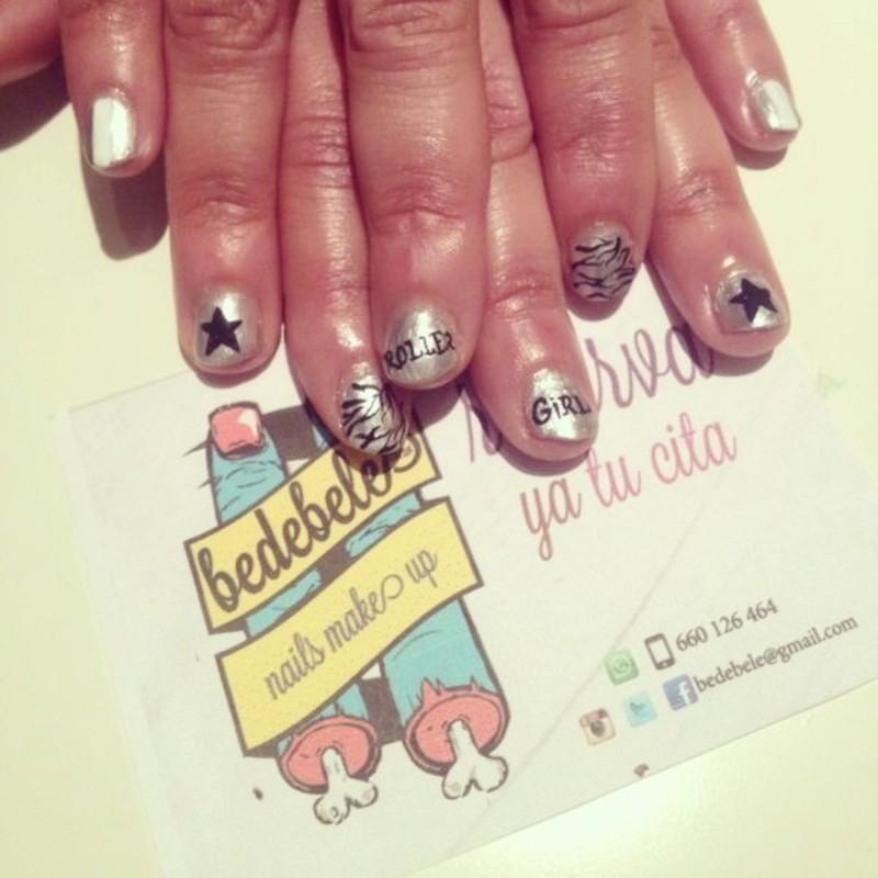Roller Girl Nailsmakeup nail art by Be de Bele Crew