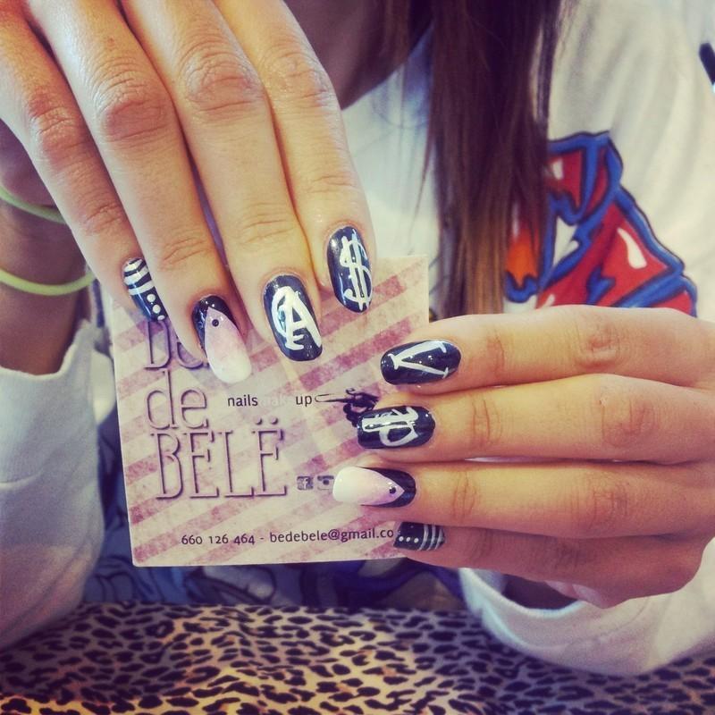 ASAP Nailsmakeup nail art by Be de Bele Crew