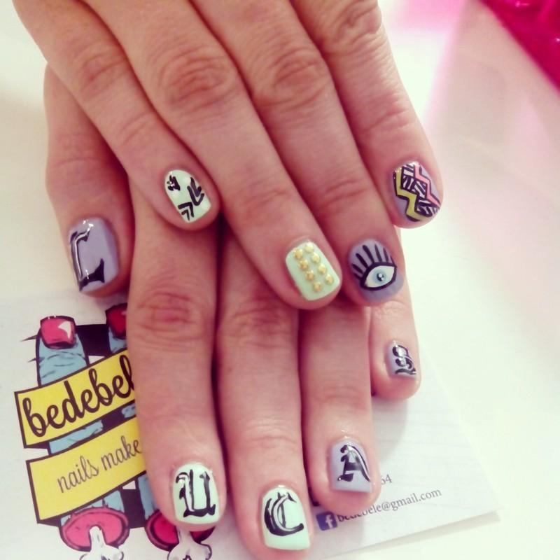 Mix & Match Nailsmakeup nail art by Be de Bele Crew