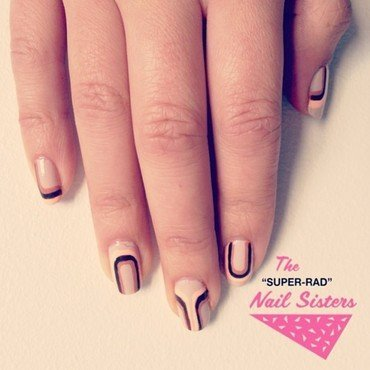 70s Wallpaper nail art by The Super Rad Nail Sisters