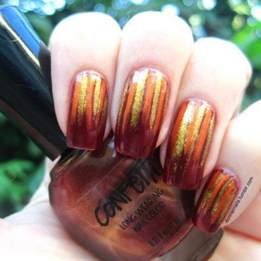 Fall nail art by Donner
