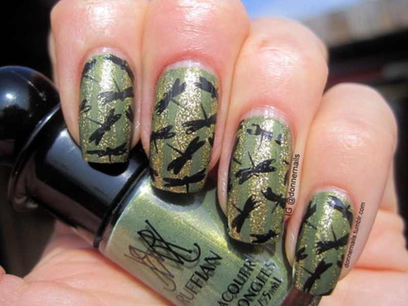 Stamping nail art by Donner