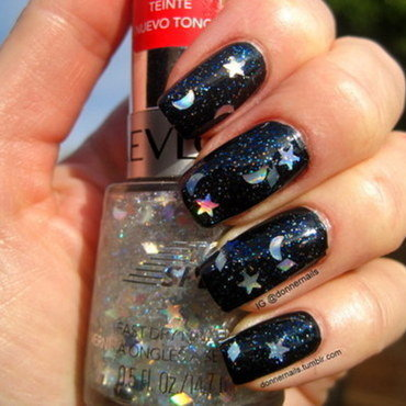 Night Sky nail art by Donner