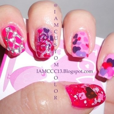 Hearts and Hearts and Hearts and Hearts nail art by Ashlie Jade