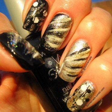 New Year's nail art by Donner
