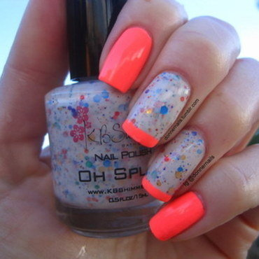 Neon nail art by Donner