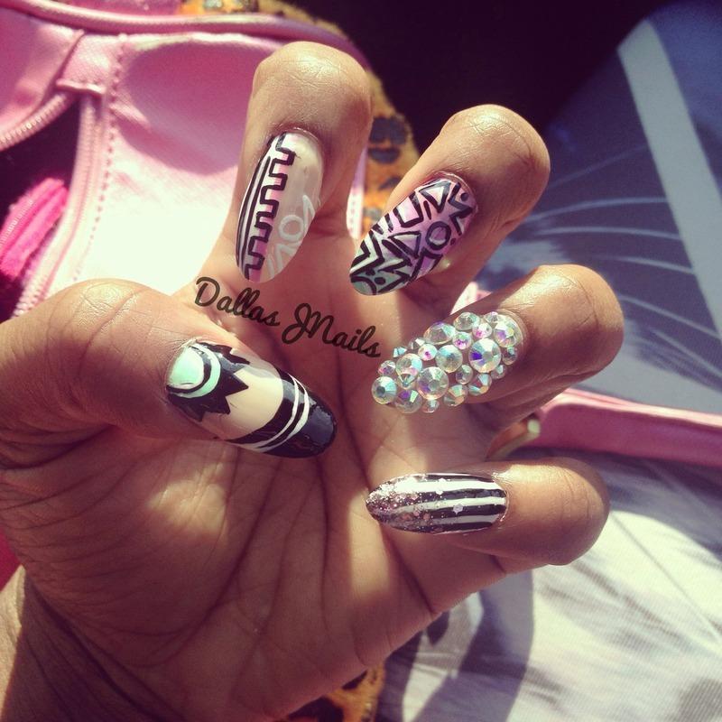 Kaleidoscope  nail art by Dallas