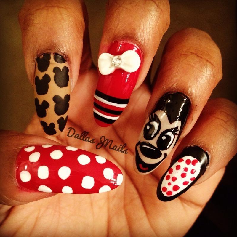 Mickey nail art by Dallas